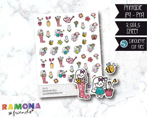 COD628- Spring stickers / Flowers stickers