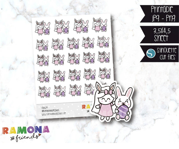 COD629-Easter stickers / Bunny Stickers