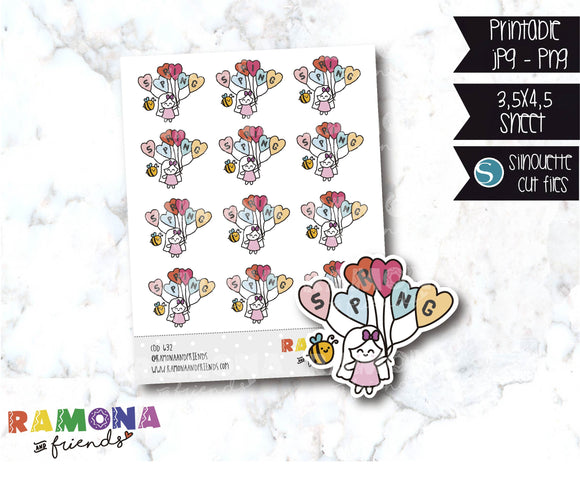 COD632- Spring stickers / Flowers stickers