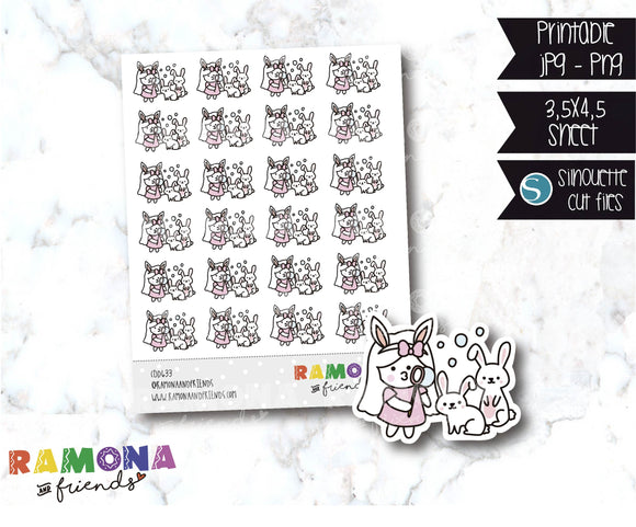 COD633-Easter stickers / spring Stickers