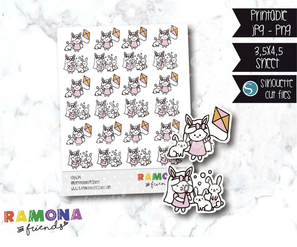 COD634-Easter stickers / spring Stickers