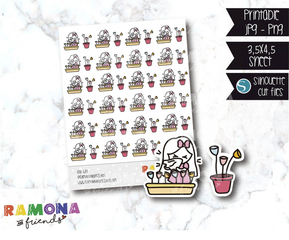 COD637- Spring stickers / Flowers stickers