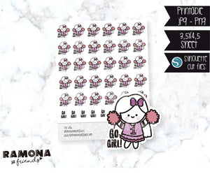 COD686- Go girl stickers