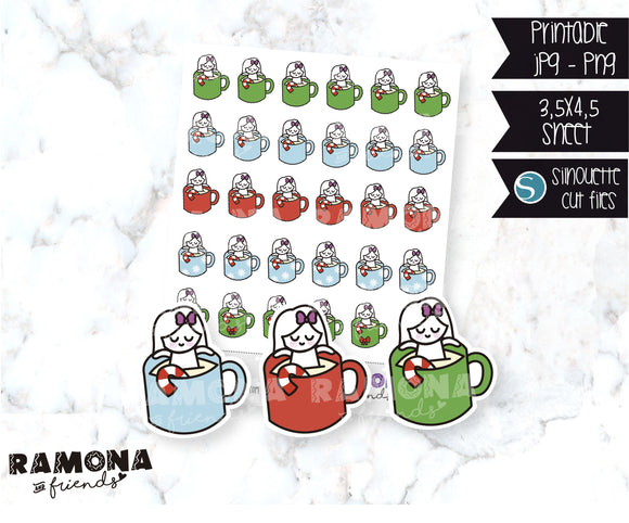 COD692-Christmas cup stickers
