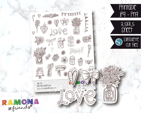 COD727-Wedding stickers / Love stickers