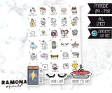 COD775-February Wacky Holidays Planner stickers