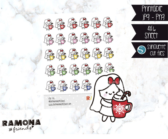 COD776-Christmas cocoa Stickers