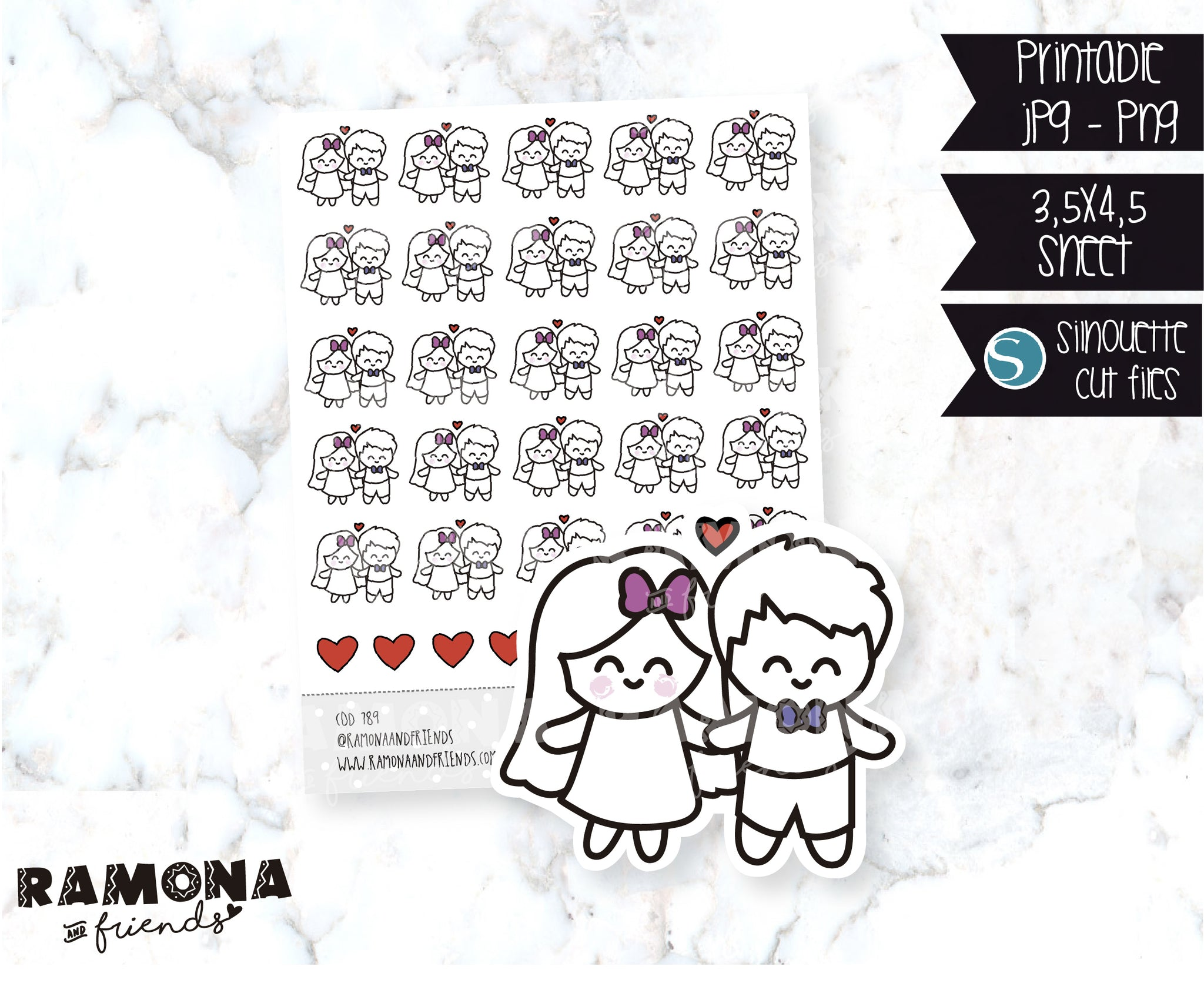 COD789-Love stickers/heart stickers