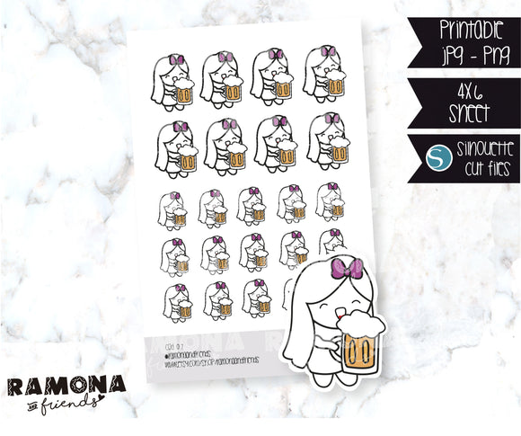 COD07-Beer Drinking stickers