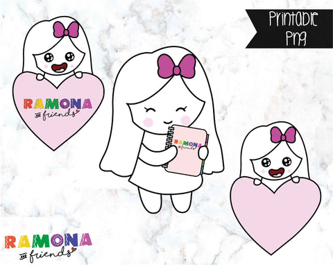 COD80-Ramona die cut stickers #2