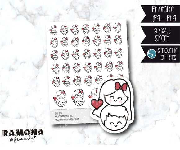 COD834-Love stickers/heart stickers