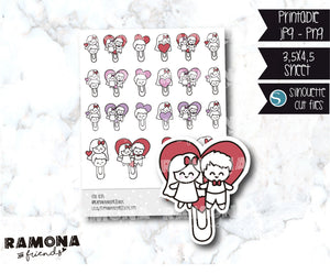 COD835-Love stickers/heart stickers