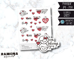 COD836-Love stickers/heart stickers