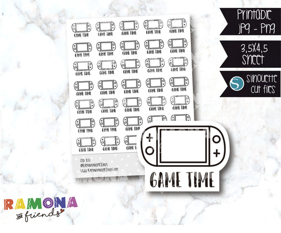 COD851- Game time stickers / Nintendo switch/ animal crossing