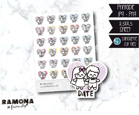 COD868-Date night stickers / Love stickers