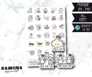 COD876-April Wacky Holidays Planner stickers