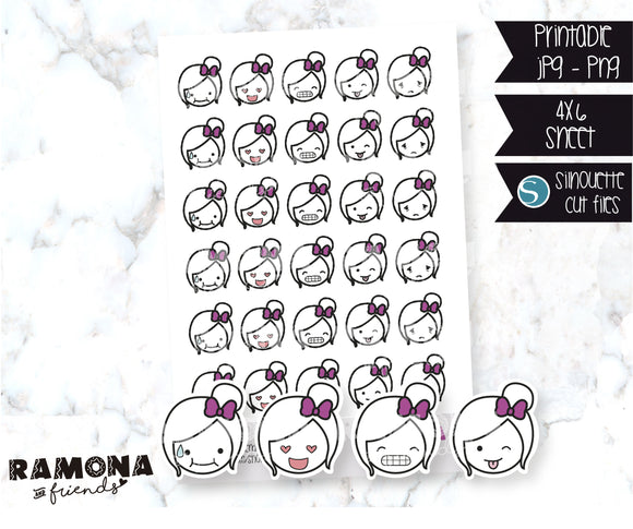COD08-Emoticons faces stickers #3