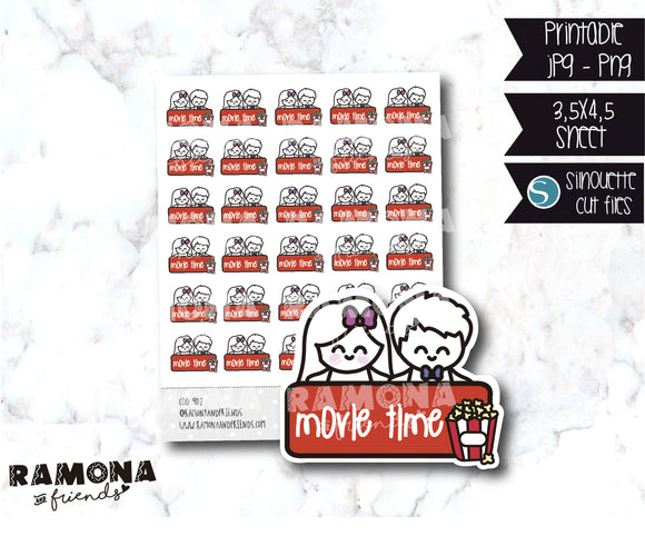 COD902-Movie time stickers