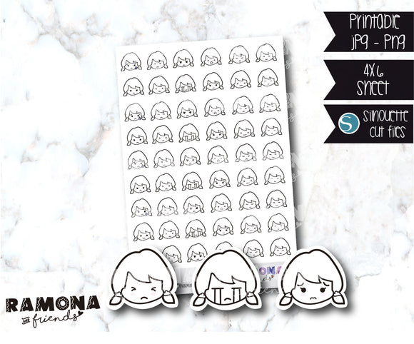 COD904-Chloe Emoticons faces stickers #2