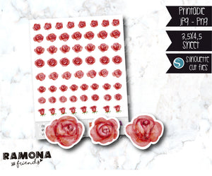 COD916- Rose stickers