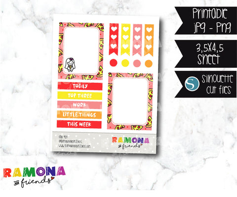 COD927- Pizza stickers / pizza planner stickers