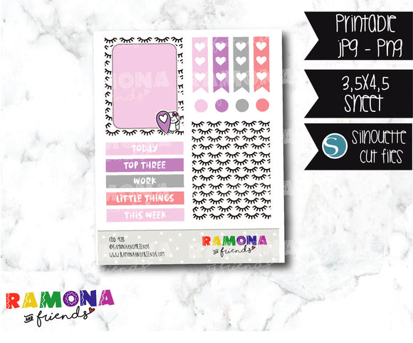 COD928- Stylish stickers / Ramona planner stickers