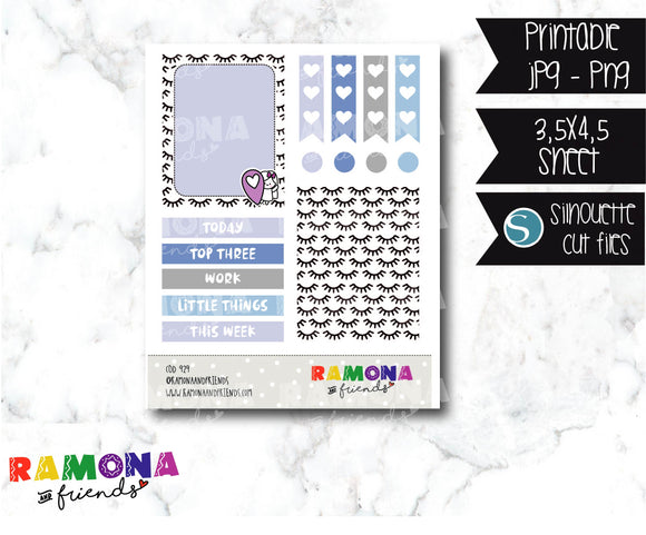 COD929- Stylish stickers / Ramona planner stickers