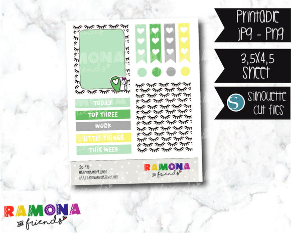 COD930- Stylish stickers / Ramona planner stickers