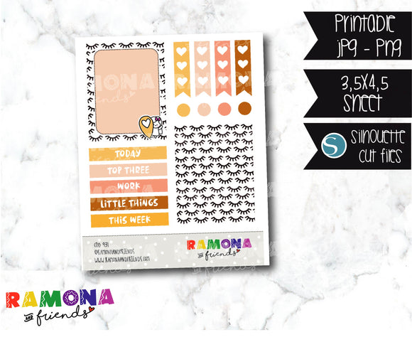 COD931- Stylish stickers / Ramona planner stickers