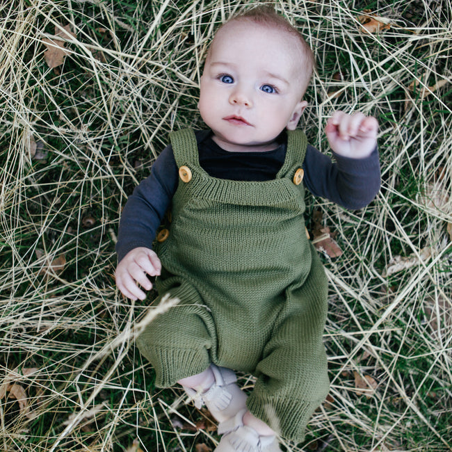knitted overalls front