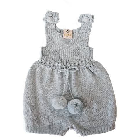 Knitted Overalls - Forest Green