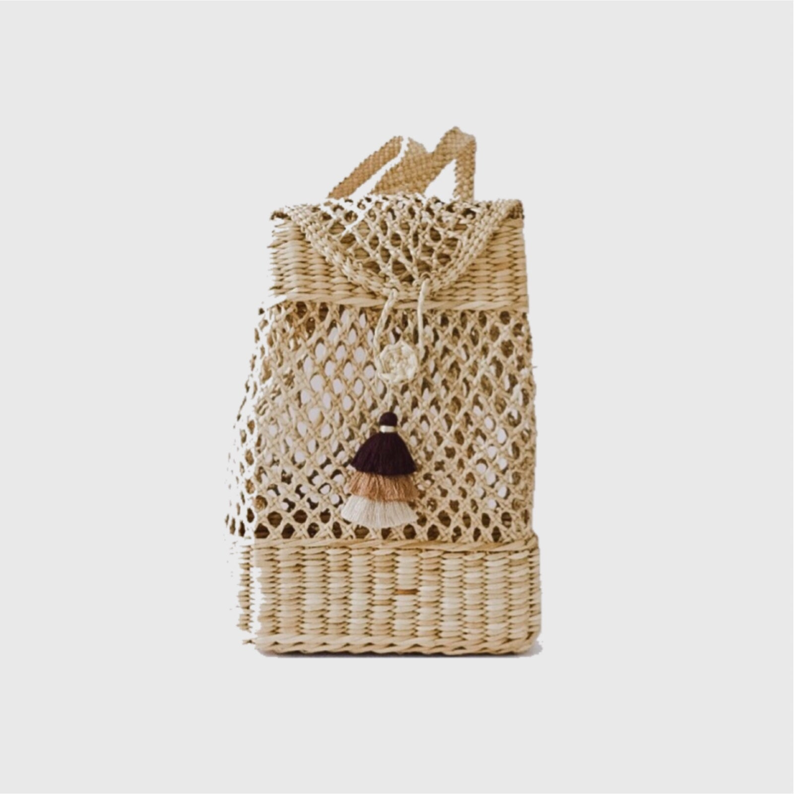 Kiara straw backpack