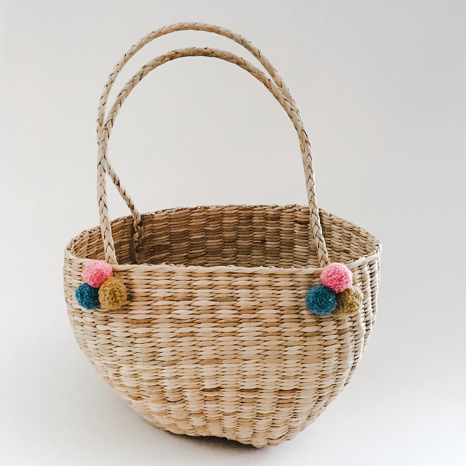 Straw Easter Basket