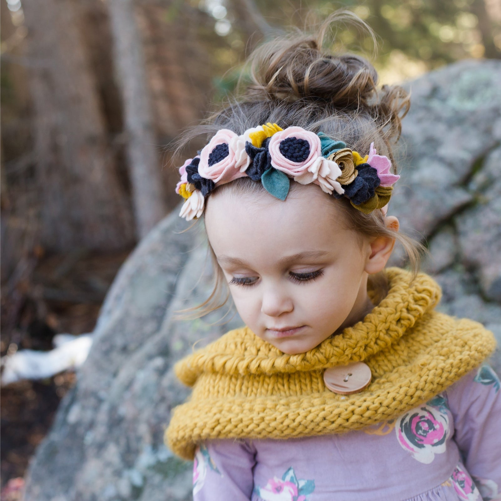 Knitted Mustard Hooded Cowl