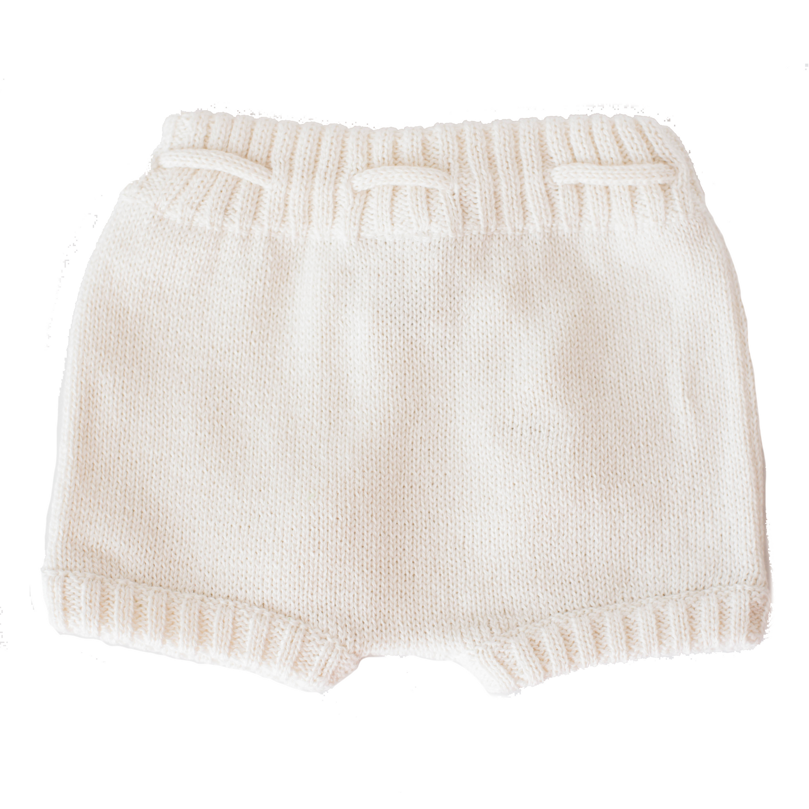 ivory knitted shorties back