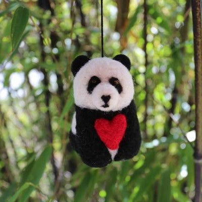 Panda bear with heart