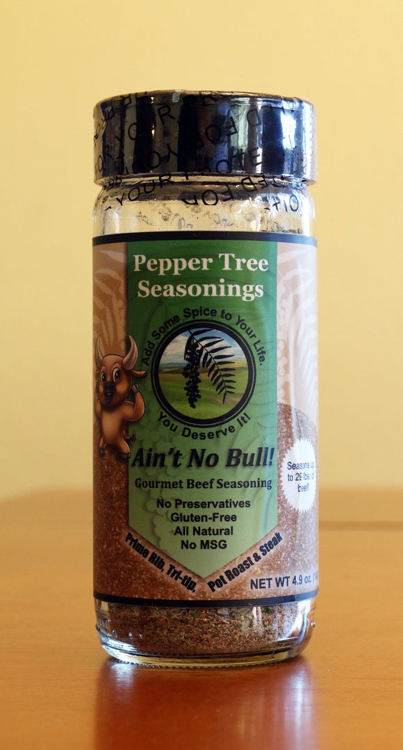 Ain't No Bull Beef Seasoning In Glass Bottle