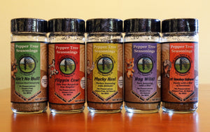Pepper Tree Seasonings Glass Bottle Set