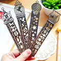 Retro Hollow Out Metal Bookmark