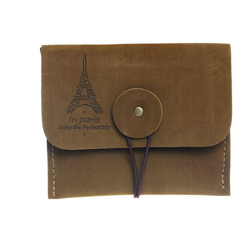 Woman Vintage Coin Purse Style Retro Paris Tower Zipper Purse Holder wallets Mini bag Cheap Purses Protable Ladies Small Bags