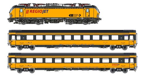 "LS Models 18000S  3 piece set: ""REIOJET"" Electric locomotive Vectron and 2 passenger cars (DCC w/Sound)"