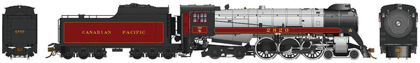 Rapido Trains 600502  CPR Royal Hudson H1c Steam Locomotive #2823 (DCC w/Sound)