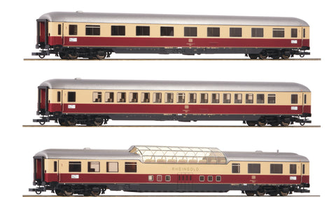 "Roco 74136  3 piece set 2: Passenger coaches ""Rheingold"", DB"