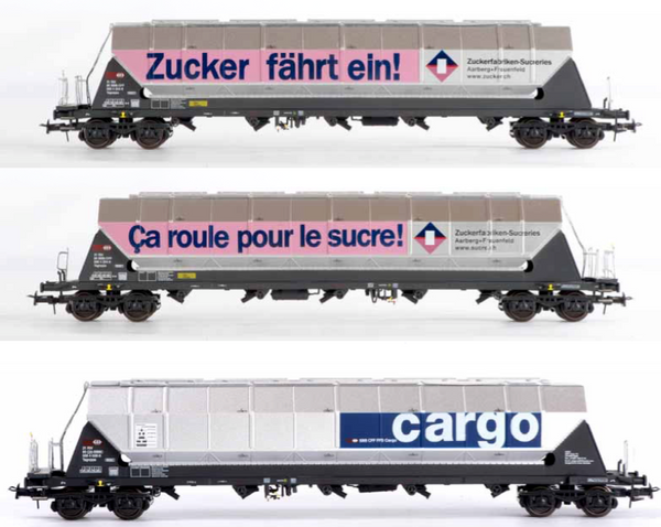 B-Models 92104  SBB Cargo 3 Silo Wagon Set - The Scuderia 46