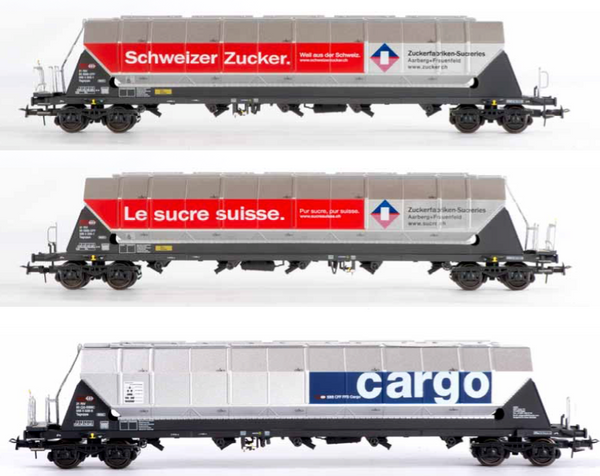 B-Models 92105  SBB Cargo 3 Silo Wagon Set - The Scuderia 46