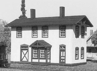 American Model Builders 612  Two Story Wood Depot - The Scuderia 46