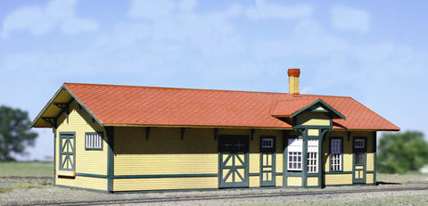 American Model Builders 801  Santa Fe One Story Depot - The Scuderia 46