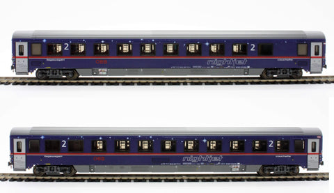"ACME 55198  ÖBB ""NIGHTJET"" Set of two couchette cars EN 295/40295 - The Scuderia 46"