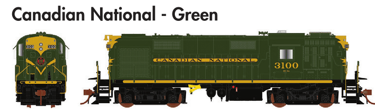 Rapido Trains  MLW RS-18 Canadian National - Green - The Scuderia 46