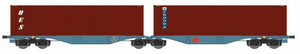 ACME 40357  ERMEWA Container Wagon Type Sggrss 80' - The Scuderia 46